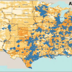 Cell Phone Network Diagram Hopkins 20100 Wiring At&t Coverage Map. Only A Small Part Of The U.s. By Area Has Access To...   Download Scientific ...