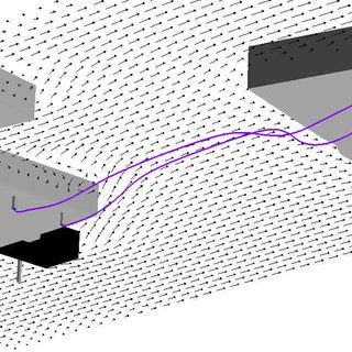 Three-dimensional illustration of plume generated by CFD
