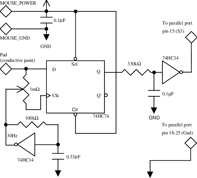 touch screen circuit diagram