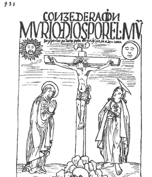 Consederacion / mvrió dios por el mvndo y por los pobres