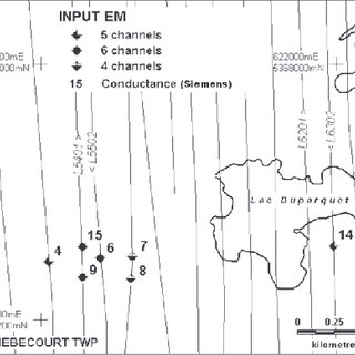 Geology of the Iso and New Insco area (adapted from SIGÉOM