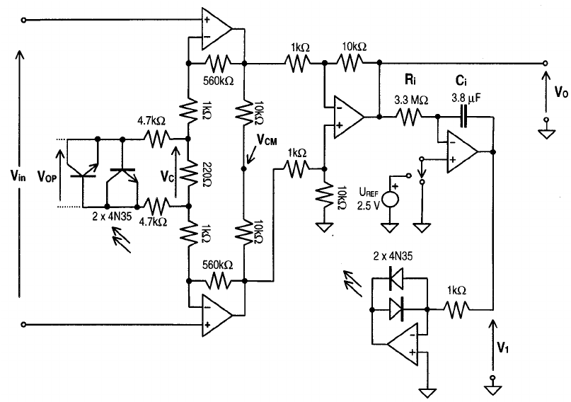 Complete circuit of the designed amplifier. In the test