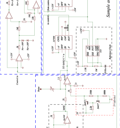 schematic representation of the electronic circuit of the controlled unstable tent map  [ 850 x 1453 Pixel ]