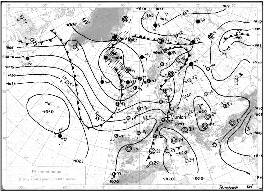 Subjective surface weather analysis of Europe and the
