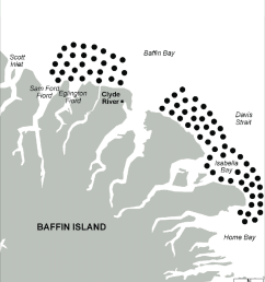 polar bear hunting areas for clyde river residents and visitors  [ 850 x 1198 Pixel ]