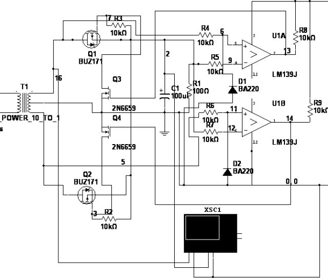 The Full Wave Synchronous Rectifier Circuit With Mosfet Switches