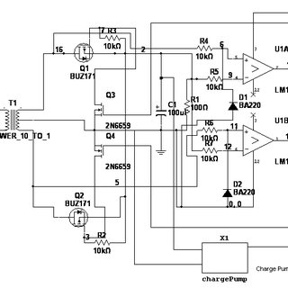 The full-wave synchronous rectifier circuit with MOSFET