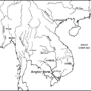 Preliminary map of Angkor Borei, produced by survey