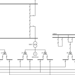 Typical single line diagram of a generator circuit-breaker