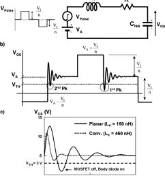 a equivalent circuit of the sr gate driver b gate voltage waveform [ 850 x 966 Pixel ]