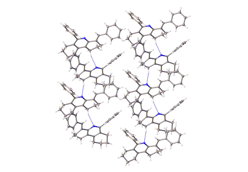 One- dimensional C-H···N hydrogen bonded chains viewed