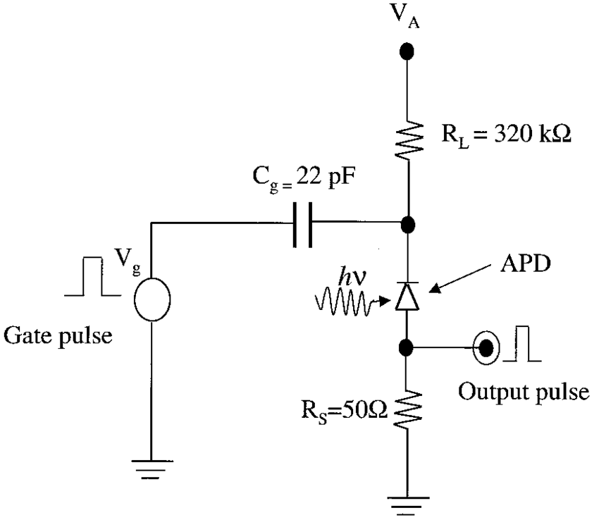 Schematic circuit diagram of the gated passive quenching