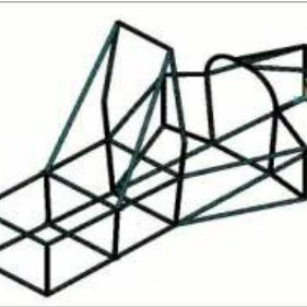 An example of space frame race car chassis structure based