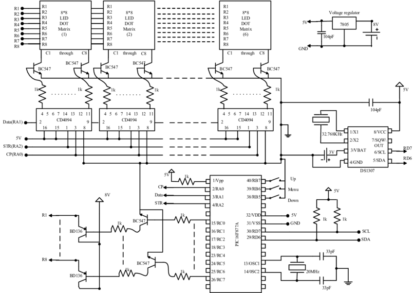 Complete circuit diagram of Bangla character based digital