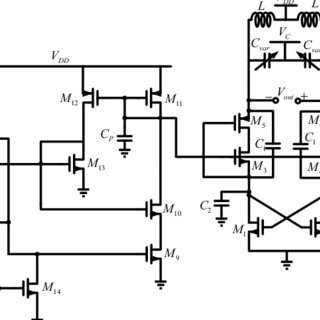 (a) Schematic diagram of the proposed differential pair