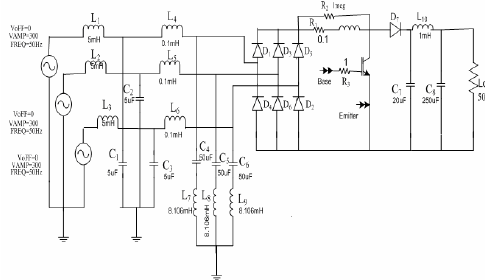 Boost regulated three phase rectifier with passive high