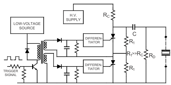 Typical schematic of the high voltage pulse generator used