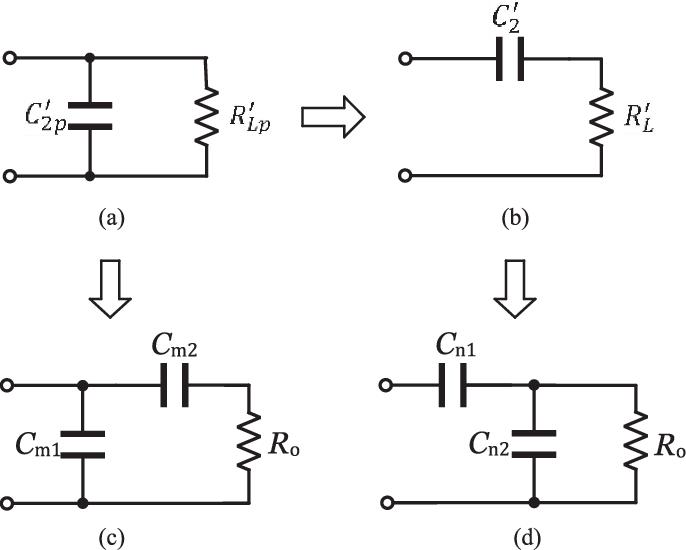 Impedance transformation procedures. (a) Parallel C 2 p