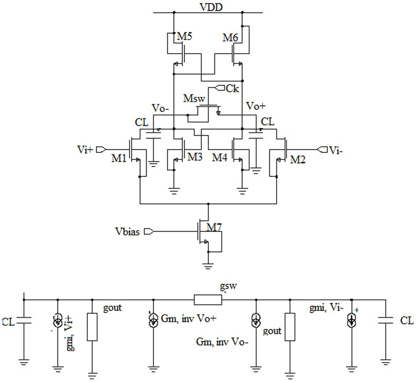 Schematic diagram of the track and latch comparator (a