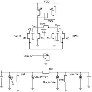 Schematic diagram of the proposed differential pair
