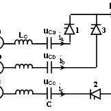 Equivalent CCC circuit during commutation from valve 1 to