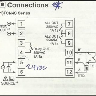 The specifications for TCN4S model temperature controller