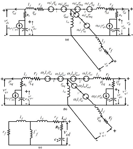 hight resolution of  a exact de qe o frame equivalent circuit of the three winding