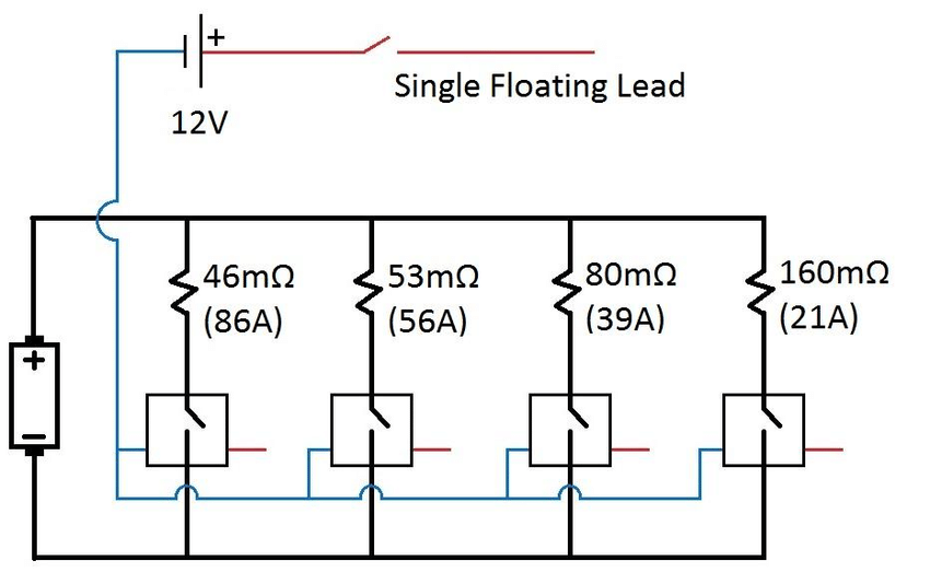Electrical wiring schematic of variable discharge current