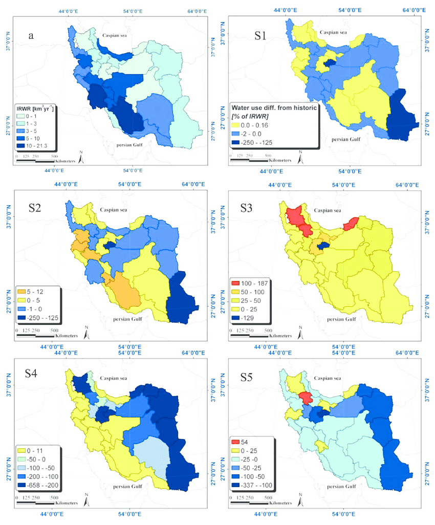 medium resolution of map of the differences in water use as percentage of internal renewable download scientific diagram