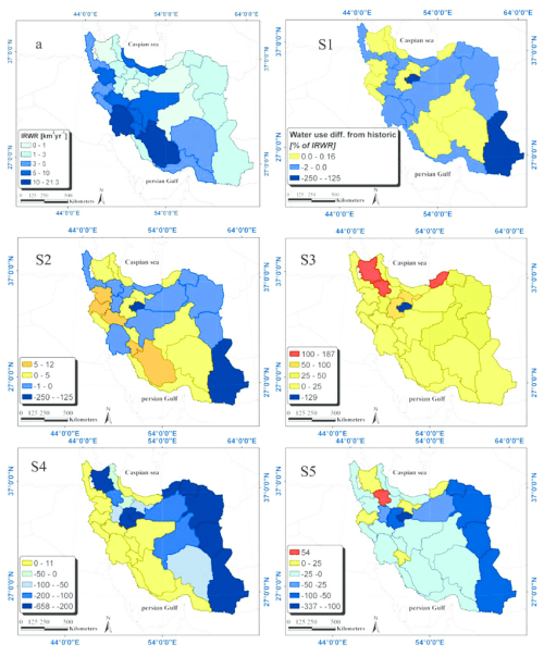 small resolution of map of the differences in water use as percentage of internal renewable download scientific diagram