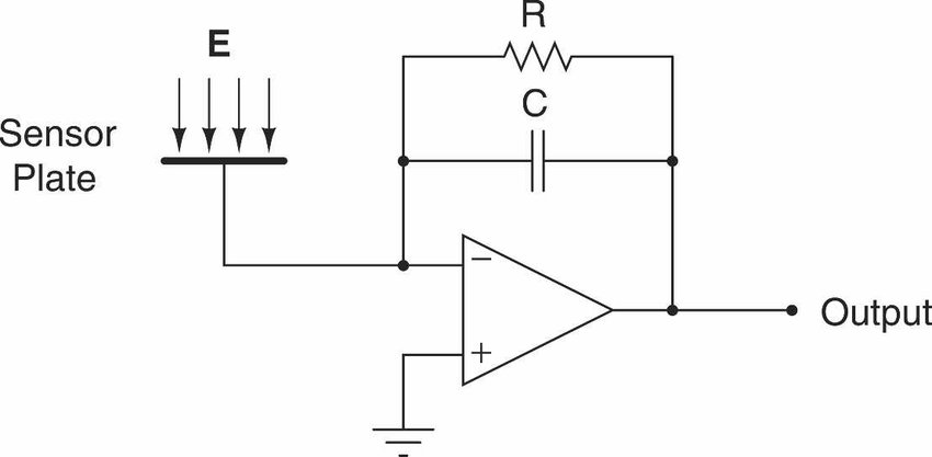 Shown is the schematic diagram of a charge amp. The