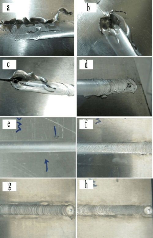 small resolution of welding defects and defect free welded ultra thin plates a defect download scientific diagram