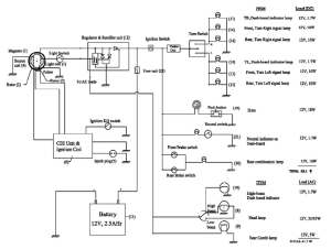 Typical Electrical Circuit Diagram of two wheeler | Download Scientific Diagram