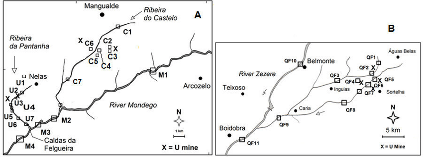Maps of the study areas with location of sampling stations