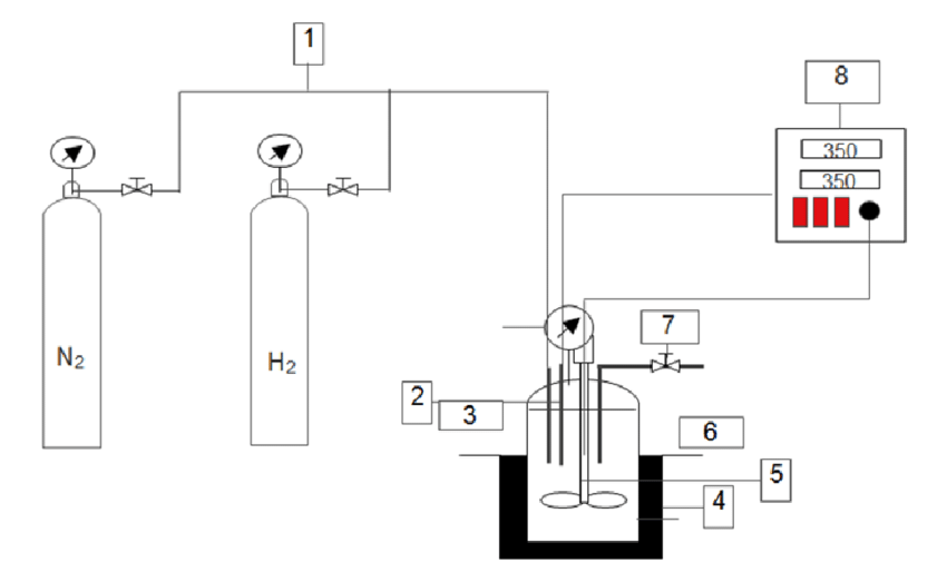 Schematic diagram of the hydrocracking process, consist of