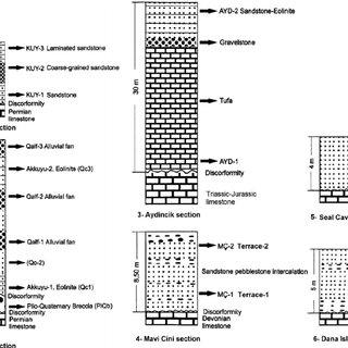 Late Pliocene e Early Pleistocene (Piacenzian e Gelasian