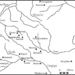 Map of African vegetation, showing the Miombo woodlands in