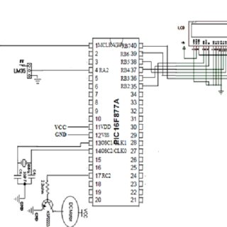 Schematic circuit diagram of fan speed control system