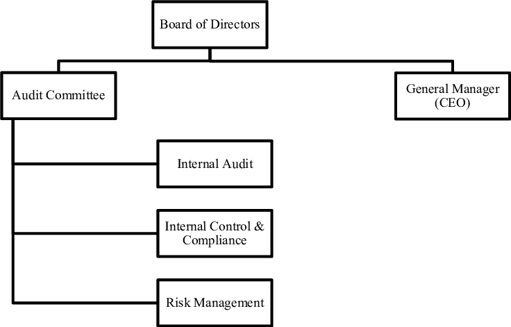 Audit committees' organizational position in banks in