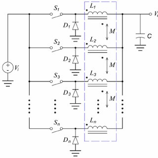 Simulation circuit of 4-Phase interleaved buck converter