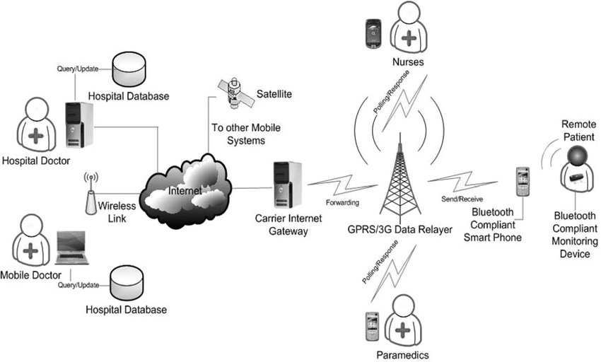 Network architecture of agent-based mobile health