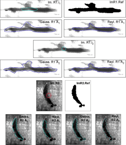 small resolution of real weld defect images binary reference images and estimated contours by algo 1 and algo