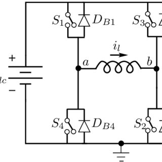 2: LC filter circuit with load and key waveforms