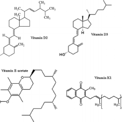 Fat Structure Diagram 2001 Ford F350 Fuse Chemical Structures Of Soluble Vitamins Download Scientific