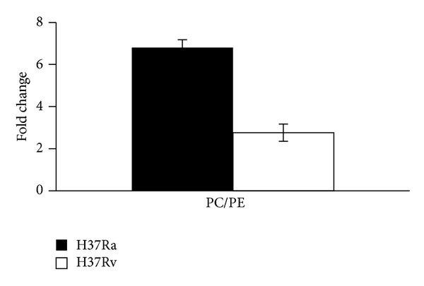 Schematic representation of ER perturbations upon H37Ra
