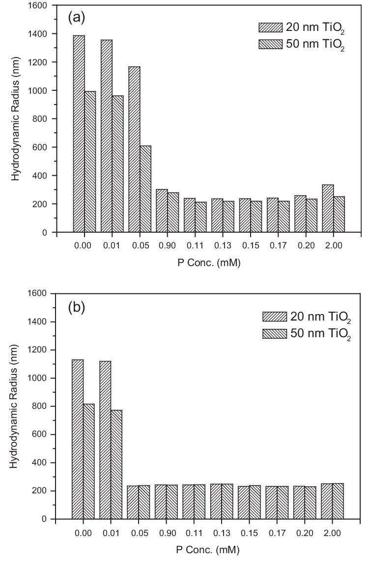 Hydrodynamic radius of nTiO 2 in 10 mM NaNO 3 electrolyte