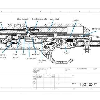 Pressure regulator of the Steyr air gun LG100. Drawing