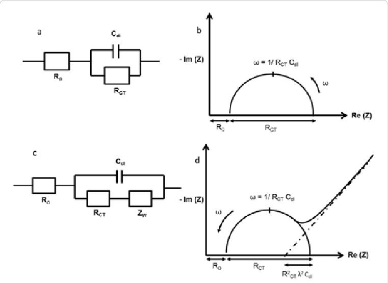(a) Representation of Randles circuit, (b) its