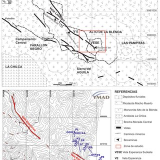 Cuadro comparativo de la mineralización de Veta Esperanza