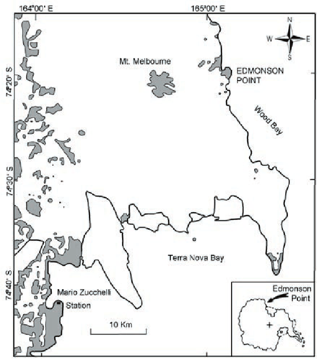 Map showing the location of Edmonson Point in Northern